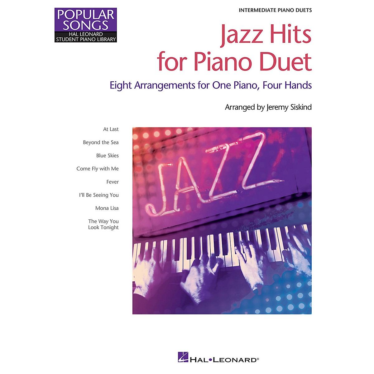Hal Leonard Jazz Hits for Piano Duet Piano Library Series Book by Various (Level Inter)