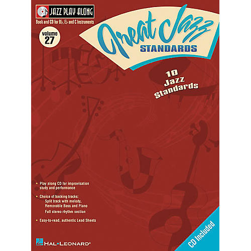 Hal Leonard Jazz Play-Along Series Great Jazz Standards Book with CD