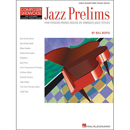 Hal Leonard Jazz Prelims Five Finger Piano Solos by Bill Boyd