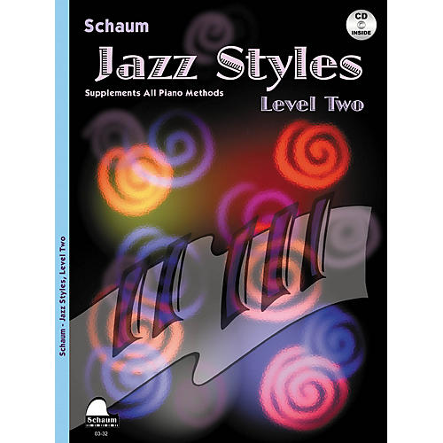 SCHAUM Jazz Styles (Level Two Book/CD) Educational Piano Book with CD by John Revezoulis