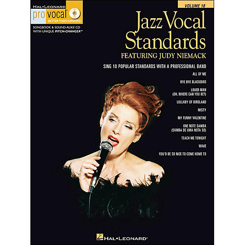Hal Leonard Jazz Vocal Standards - Pro Vocal Series Featuring Judy Niemack Volume 18 Book/CD