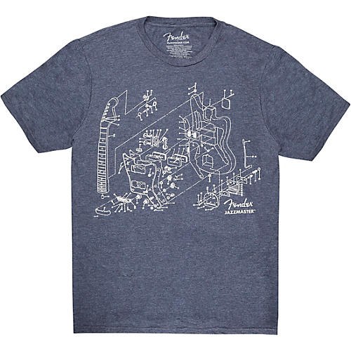 Fender Jazzmaster Patent Drawing Tee