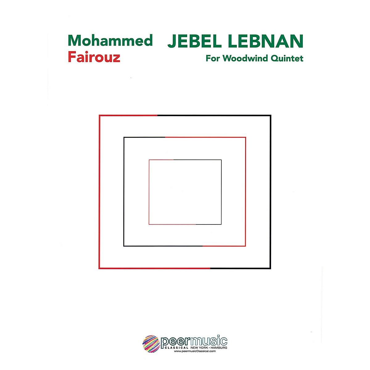 Peer Music Jebel Lebnan (Woodwind Quintet) Peermusic Classical Series by Mohammed Fairouz