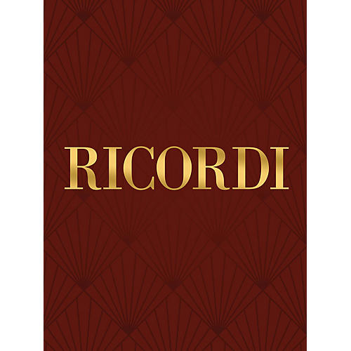 Ricordi Jephte Critical Edition, Lat/En (Vocal Score) SATB Composed by Gian Giacomo Carissimi Edited by Amisano