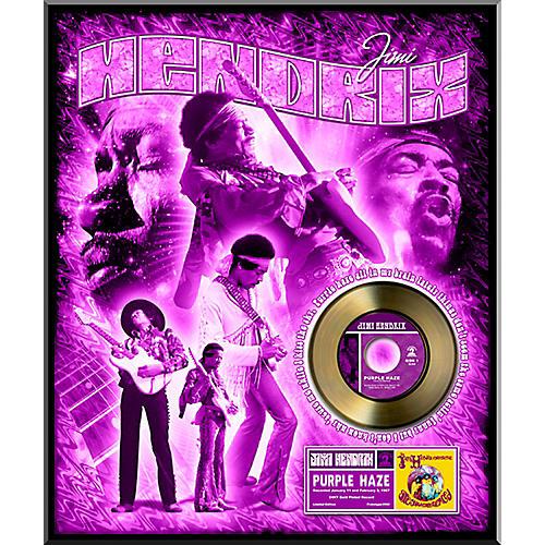 24 kt gold records jimi hendrix purple haze gold 45 limited edition of 2500 guitar center. Black Bedroom Furniture Sets. Home Design Ideas