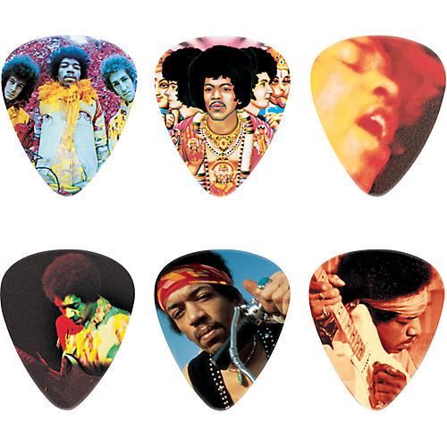 Dunlop Jimi Hendrix Montage Pick Tin with 6 Heavy Picks