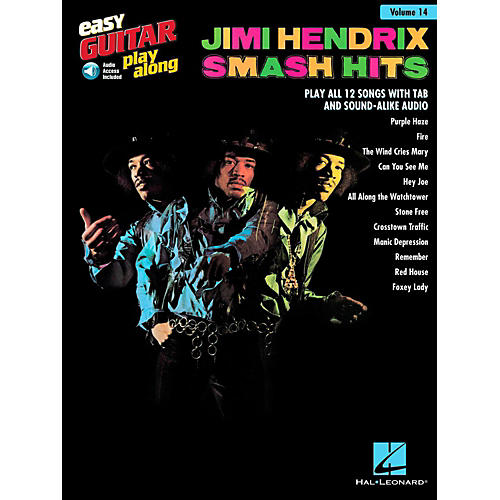 Hal Leonard Jimi Hendrix Smash Hits - Easy Guitar Play-Along Volume 14 Book/Online Audio