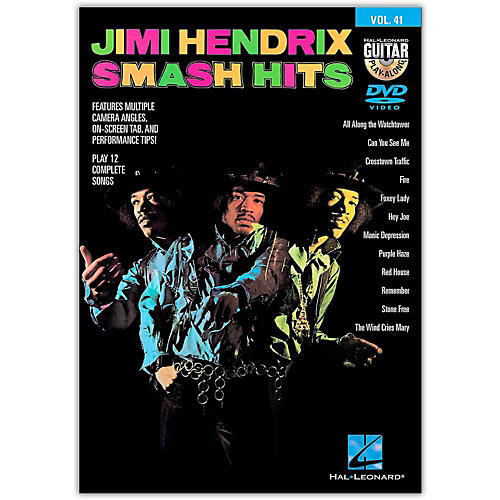 Hal Leonard Jimi Hendrix Smash Hits - Guitar Play-Along DVD Volume 41