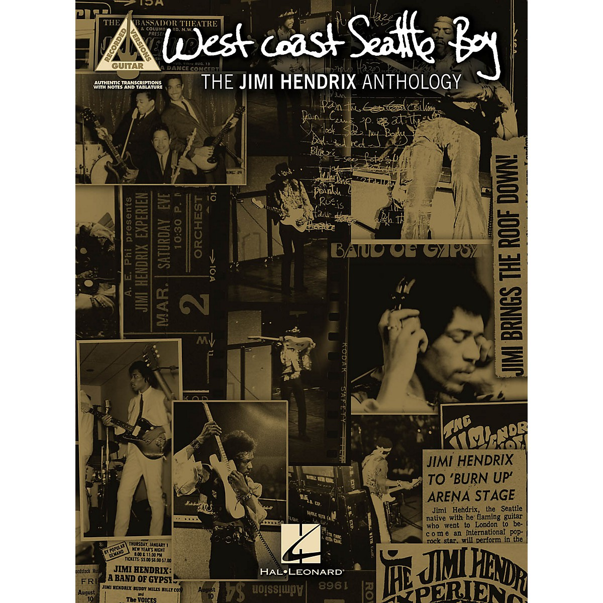 Hal Leonard Jimi Hendrix West Coast Seattle Boy: The Jimi Hendrix Anthology Guitar Tab Songbook