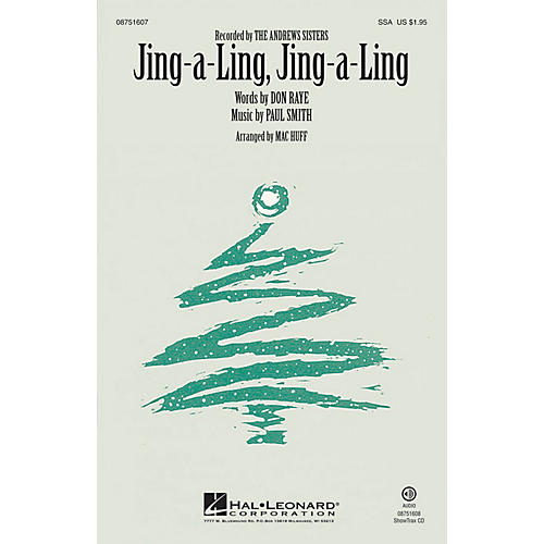 Hal Leonard Jing-a-Ling, Jing-a-Ling ShowTrax CD by The Andrews Sisters Arranged by Mac Huff