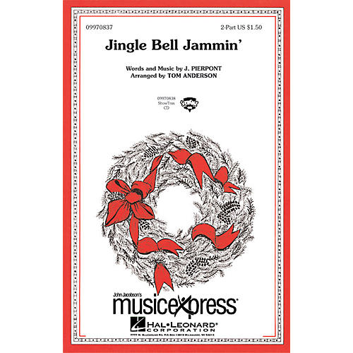 Hal Leonard Jingle Bell Jammin' 2-Part Arranged by Tom Anderson