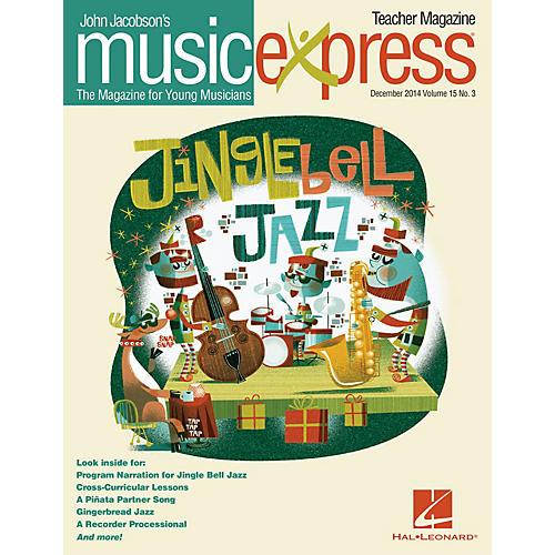Hal Leonard Jingle Bell Jazz Vol. 15 No. 3 (December 2014) Teacher Magazine w/CD Arranged by Emily Crocker
