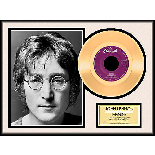 24 Kt. Gold Records John Lennon - Imagine Gold LP Limited Edition of 2,500