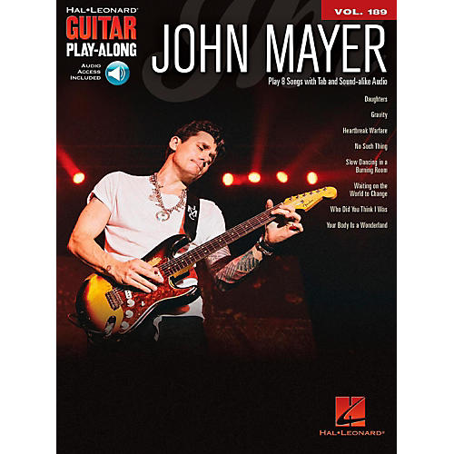 Hal Leonard John Mayer - Guitar Play-Along Vol. 189 Book/Audio Online