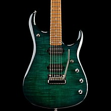 Ernie Ball Music Man John Petrucci JP15 Flame Maple Top Electric Guitar Teal Flame