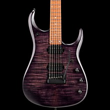 John Petrucci JP15 Flame Maple Top Electric Guitar Transparent Black