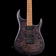 Ernie Ball Music Man John Petrucci JP15 Quilt Maple Top Electric Guitar Transparent Black