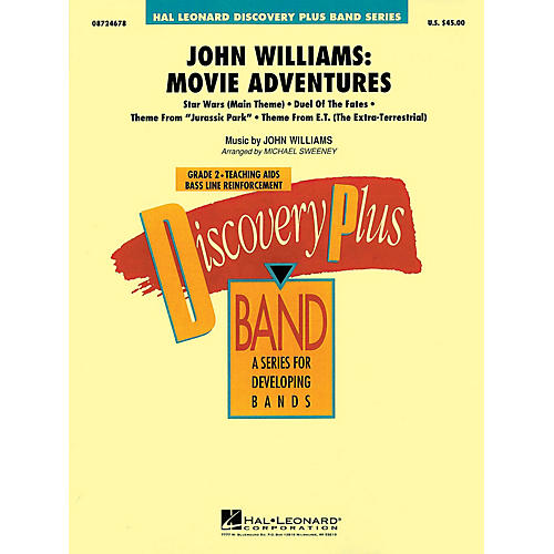Hal Leonard John Williams: Movie Adventures - Discovery Plus Concert Band Series Level 2 arranged by Sweeney