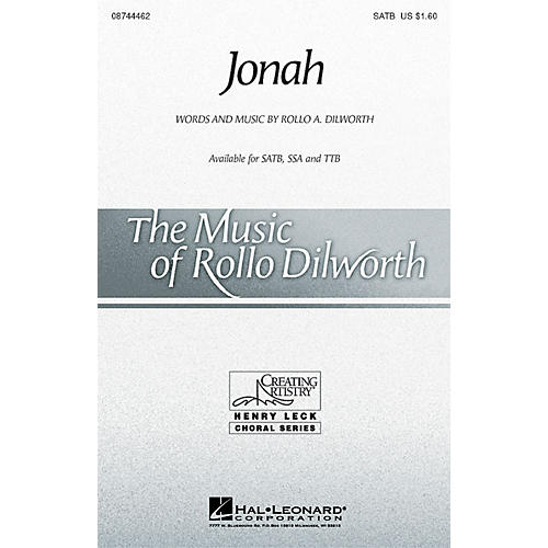 Hal Leonard Jonah TTB Composed by Rollo Dilworth