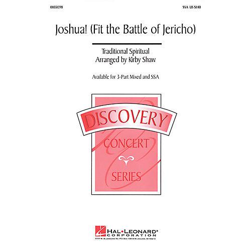 Hal Leonard Joshua! (Fit the Battle of Jericho) 2-Part Arranged by Kirby Shaw