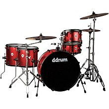 Journeyman2 Series Rambler 5-piece Drum Kit with 24 in. Bass Drum Red Sparkle