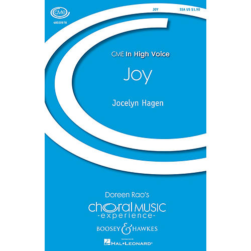 Boosey and Hawkes Joy (CME In High Voice) SSA composed by Jocelyn Hagen