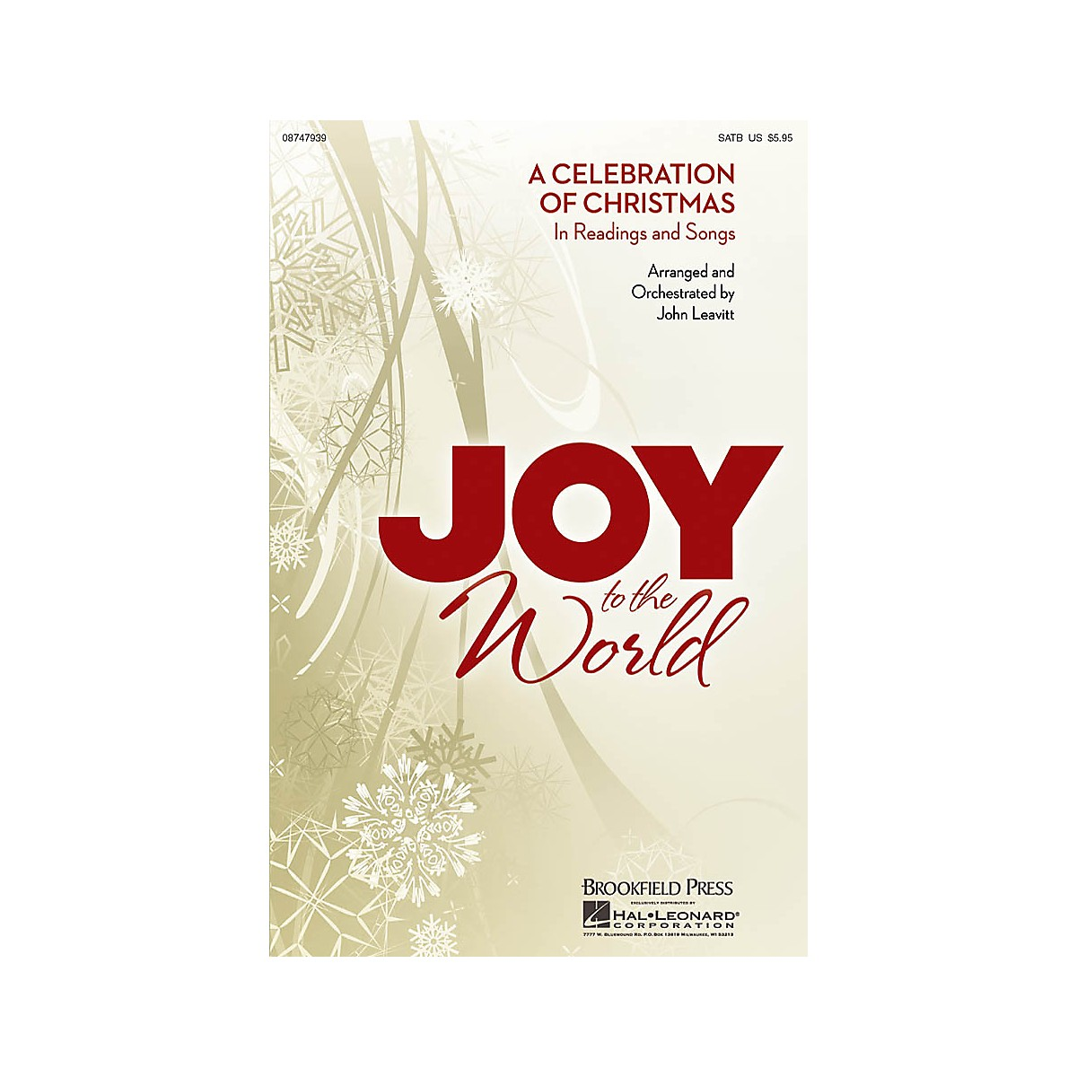 Brookfield Joy to the World (A Celebration of Christmas in Readings and Songs) CHOIRTRAX CD Arranged by John Leavitt