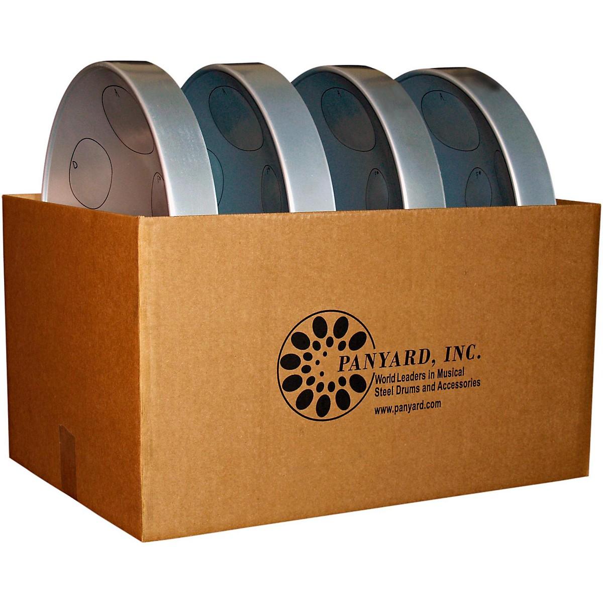 Panyard Jumbie Jam Educator's Steel Drum 4-Pack with Table Top Stands