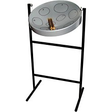 Jumbie Jam Steel Drum Kit with Tube Floor Stand Silver