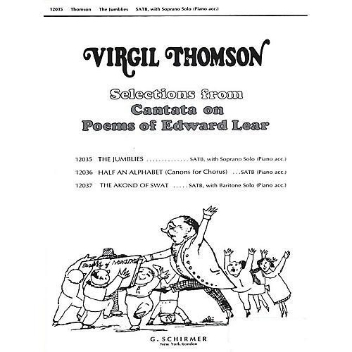 G. Schirmer Jumblies W/soprano Solo & Piano Accompaniment SATB composed by Virgil Thomson