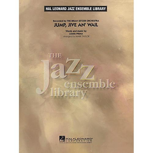 Hal Leonard Jump, Jive An' Wail Jazz Band Level 4 by The Brian Setzer Orchestra Arranged by Mark Taylor