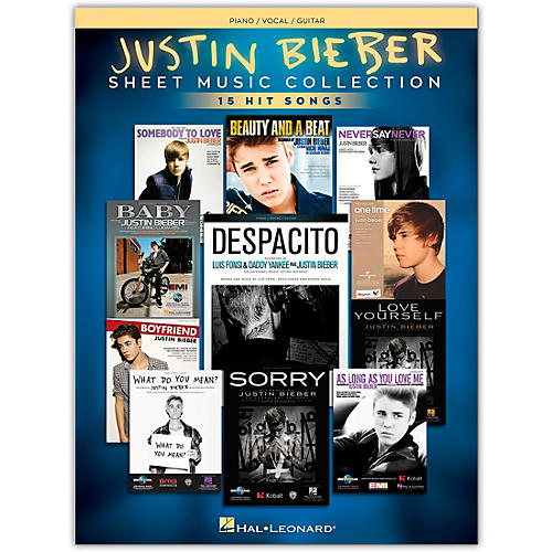 Hal Leonard Justin Bieber - Sheet Music Collection 17 Hit Songs Piano/Vocal/Guitar Songbook