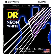 DR Strings K3 NEON Hi-Def White Electric Lite Guitar Strings