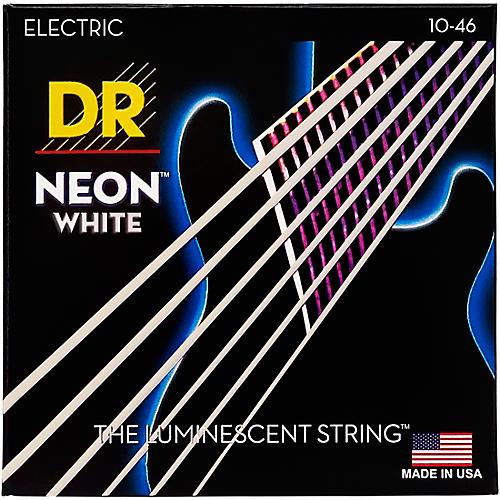 DR Strings K3 NEON Hi-Def White Electric Medium Guitar Strings
