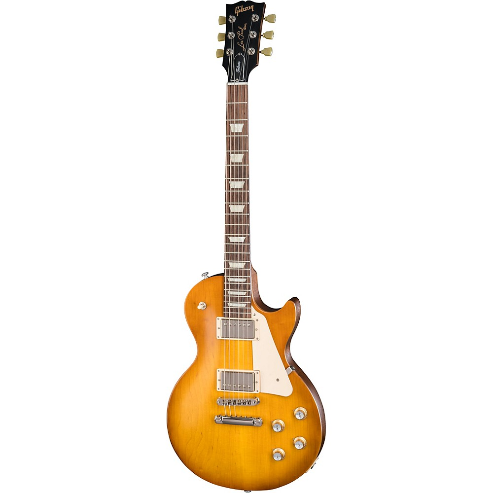 Gibson Les Paul Tribute 2018 Solid Body Electric Guitar Faded Honey Burst Vintage White Pearl Pickguard -  LPTR18FHNH1