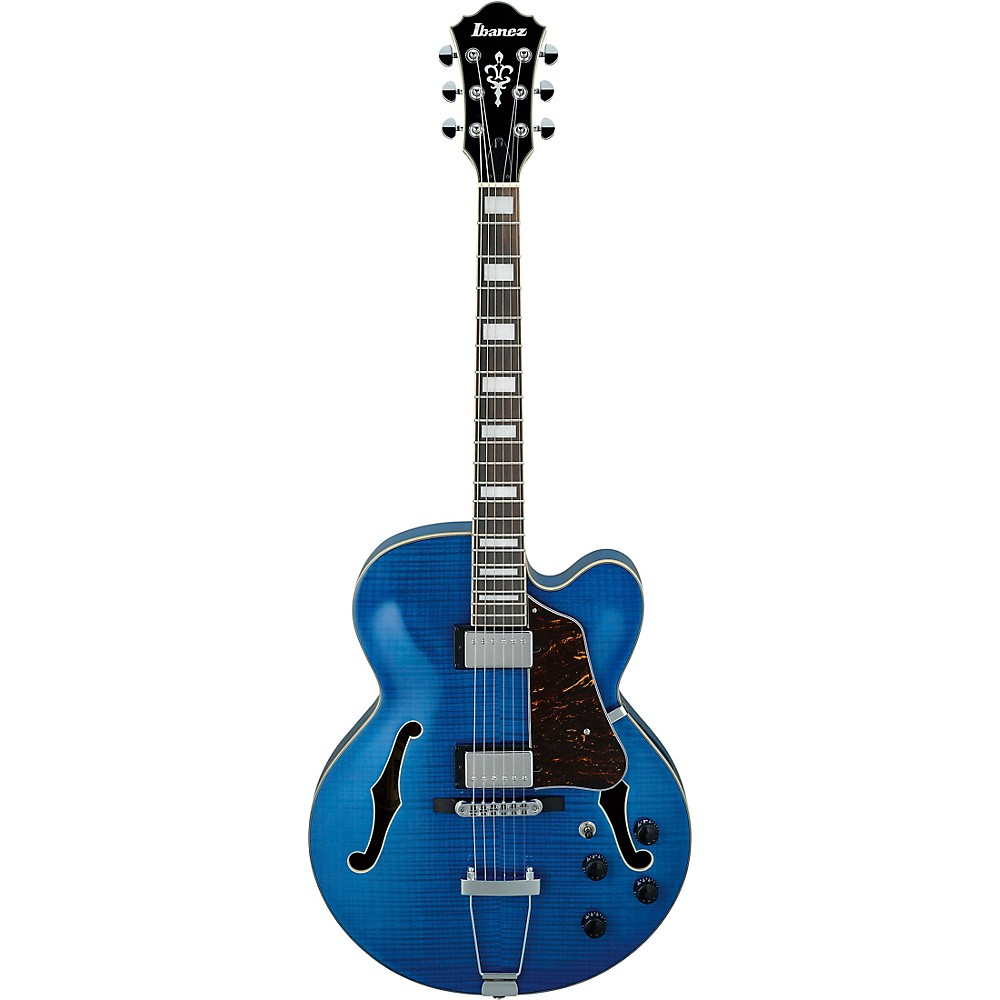 Ibanez AF75FM Artcore Hollowbody Electric Guitar Transparent Blue 1500000139088