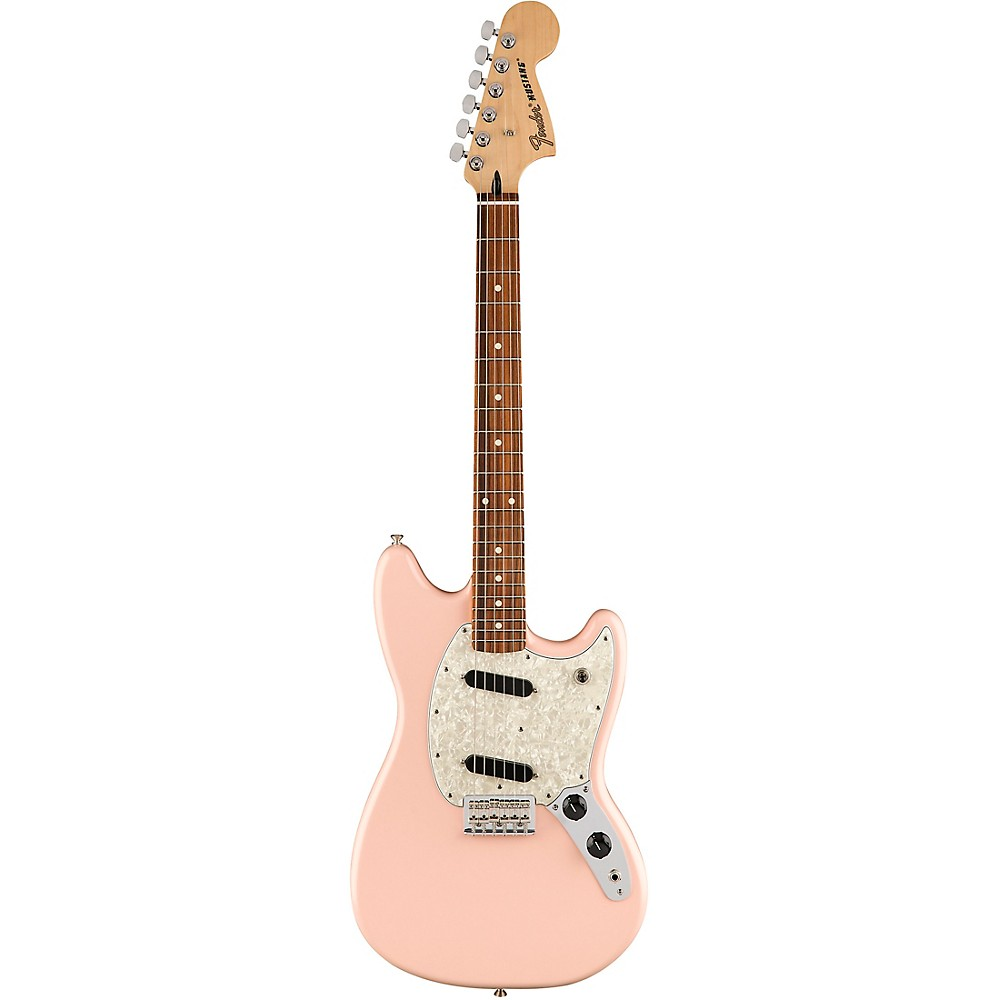 Fender Limited Edition Mustang Electric Guitar With Pau Ferro Fingerboard Shell Pink 1500000139021