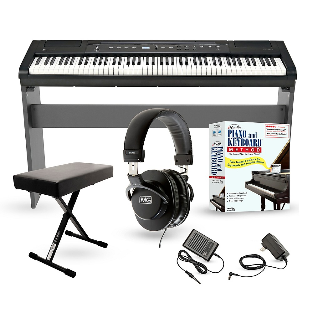williams allegro 2 plus 88 key digital piano packages home package. Black Bedroom Furniture Sets. Home Design Ideas