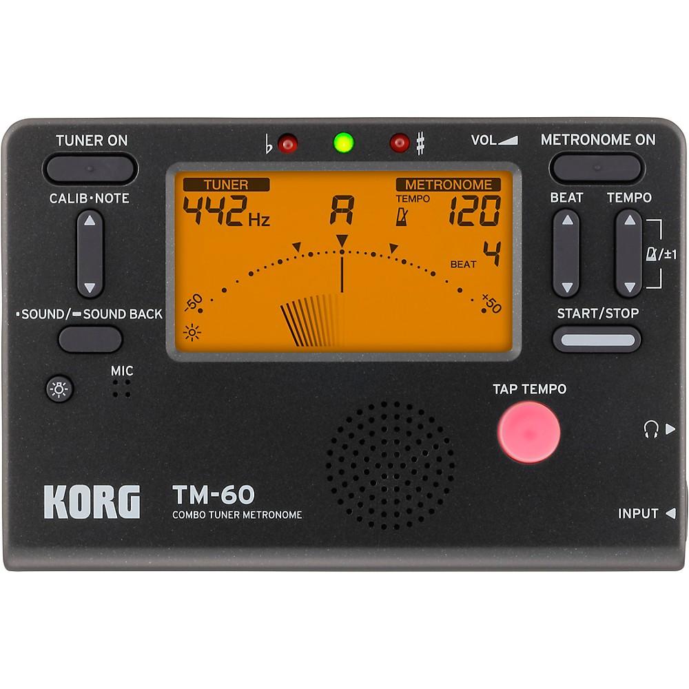 2. Korg TM60BK Tuner and Metronome Combo