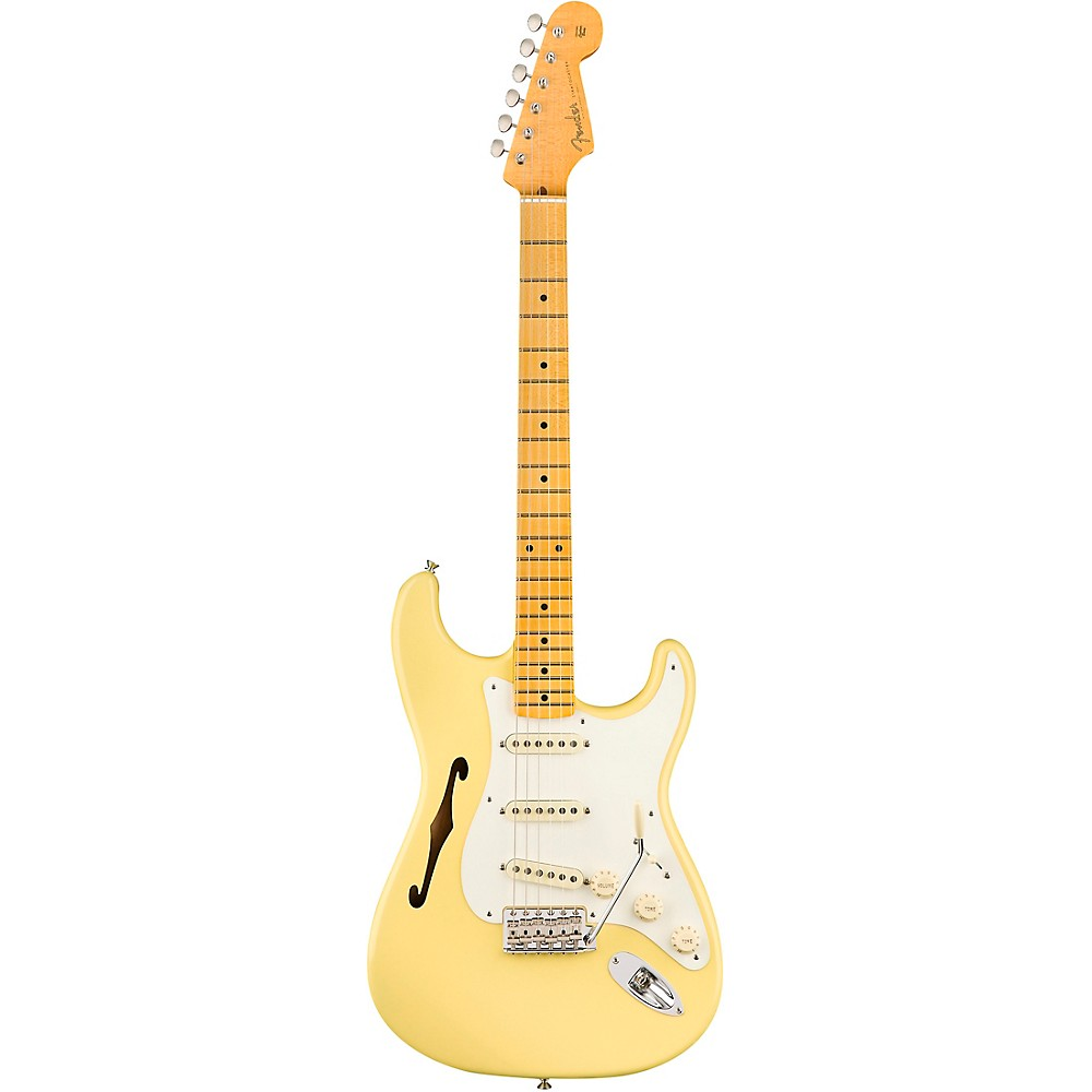 Fender Eric Johnson Thinline Stratocaster Electric Guitar Vintage White 1500000183882