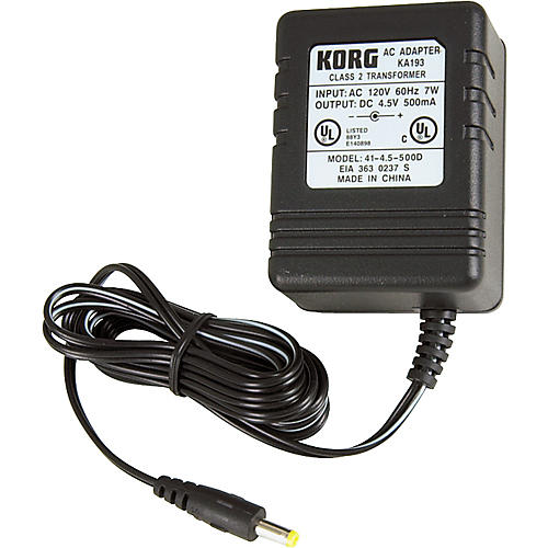 Korg KA193 4.5V Adapter for PX4, PX4B, and PXR4
