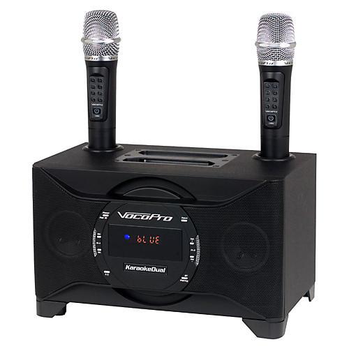 Vocopro KARAOKEDUAL All-In-One Karaoke Boom Box with Wireless Mics
