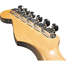 Kluson KF6BL F-Style Locking Guitar Tuning Machines - 6-In-line Bolt Bushing Level 1 Gold