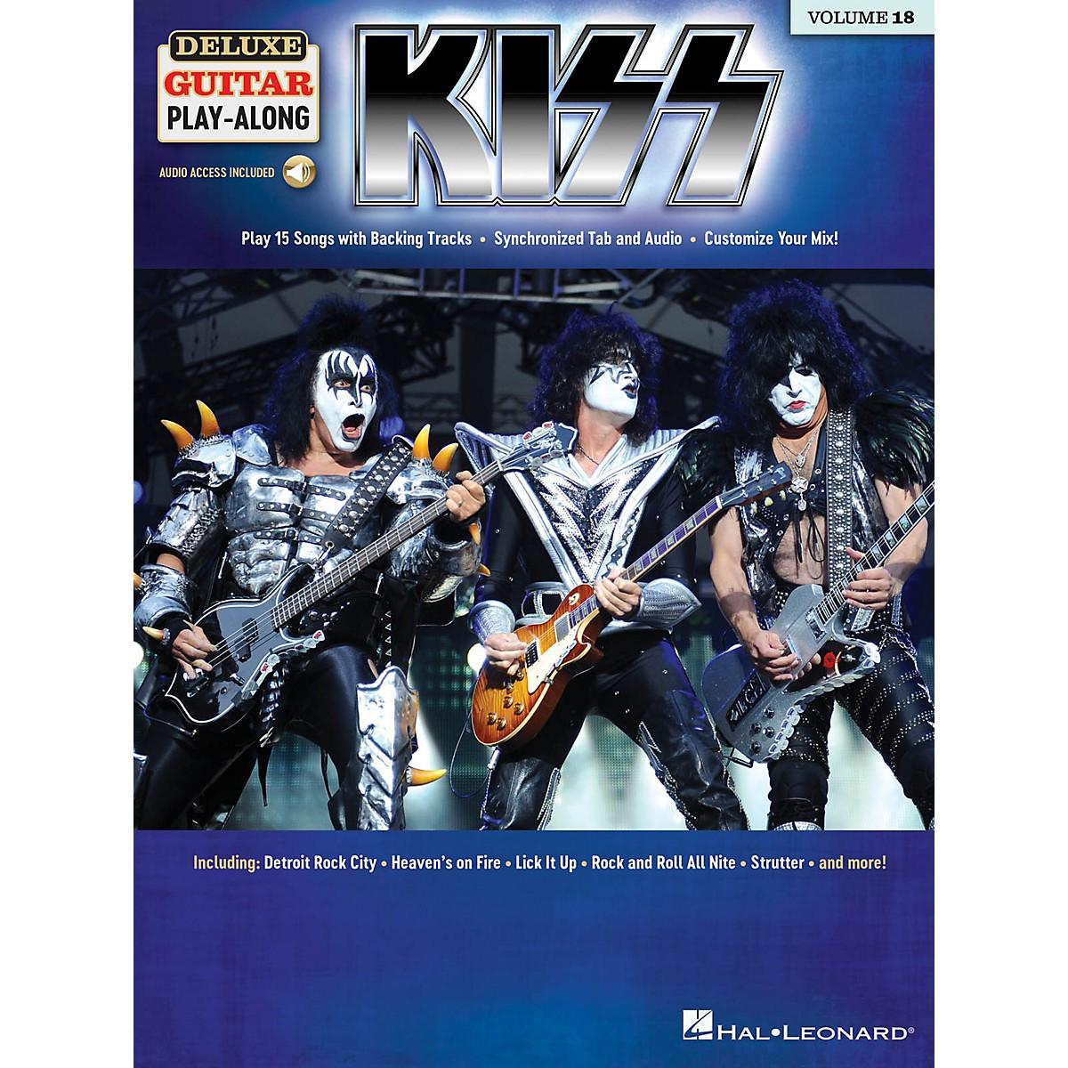 Hal Leonard KISS Deluxe Guitar Play-Along Volume 18 Book/Audio Online
