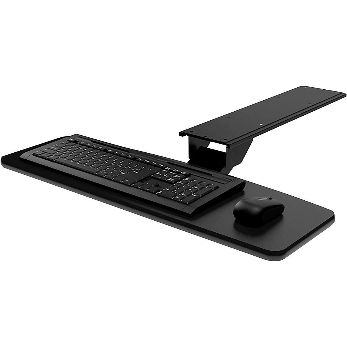 Omnirax KMSOM Adjustable Computer Keyboard Mouse Shelf - Black