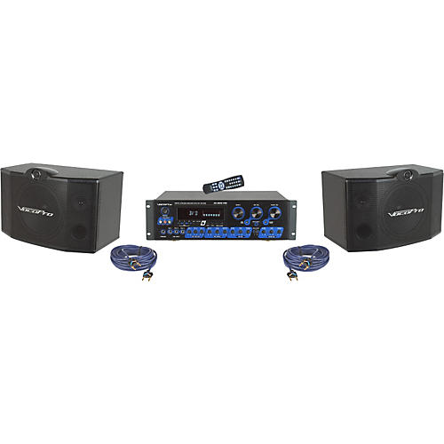 VocoPro KRS-3 Karaoke Mixer and Speaker Package