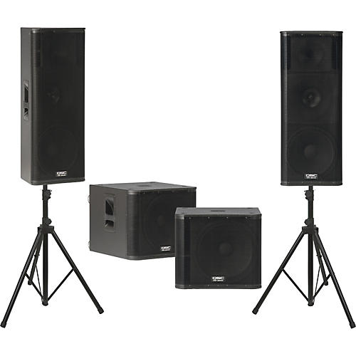 QSC KW153 /  KW181 Powered Speaker Dual Sub Package