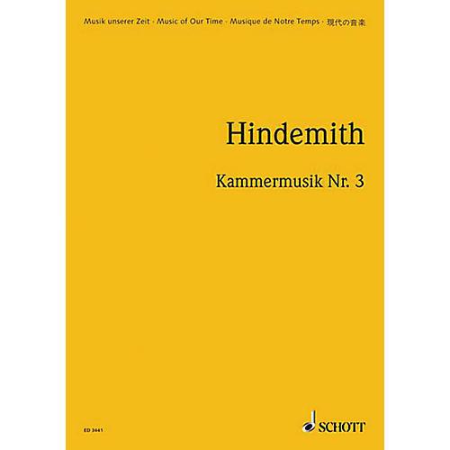 Schott Kammermusik #3 Op. 36, No. 2 (Study Score) Schott Series Composed by Paul Hindemith