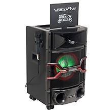 """VocoPro Karaoke Rock-On-Roller DVD Karaoke System with 10"""" Display and Lightshow Speaker Level 1"""