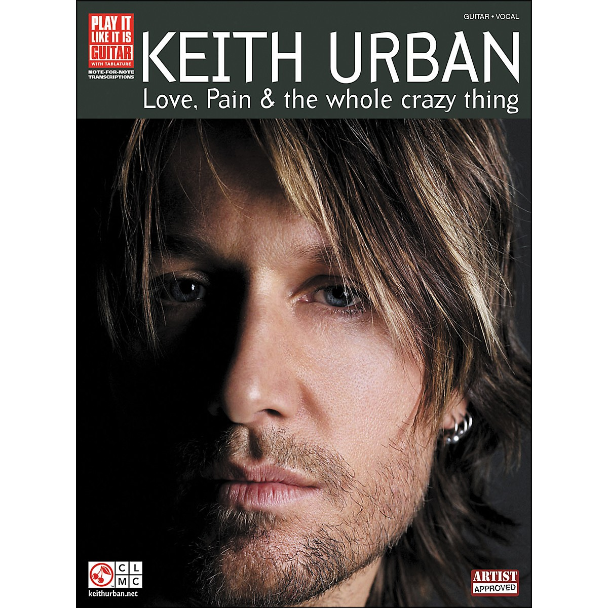 Cherry Lane Keith Urban - Love, Pain & The Whole Crazy Thing Tab Book